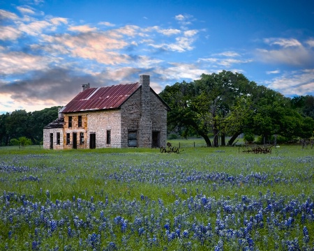 Sunset At The Bluebonnet House