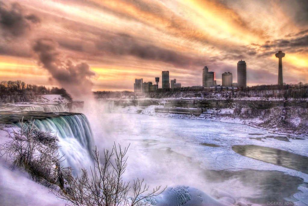 Winter Sunset At Niagara