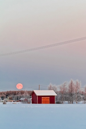 Sunrise And The Super Moon