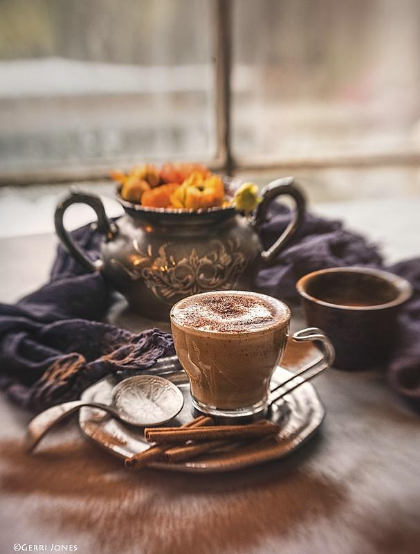 Morning Espresso on a Snowy Day