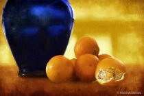 Blue Vase and Clementines