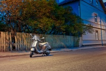 Lonely Scooter By The Street