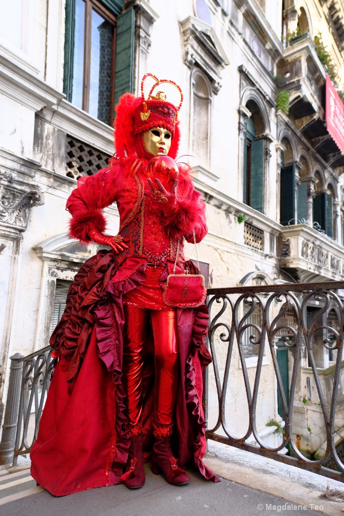 Venice Carnival: Color Series - Red Bomb  - ID: 15521067 © Magdalene Teo