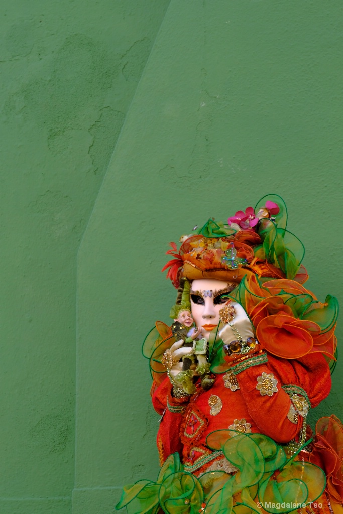 Venice Carnival: Color Series - Green Sensation  - ID: 15521070 © Magdalene Teo