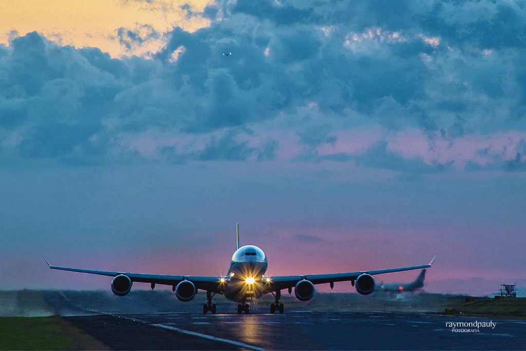 Take-off at Sunset
