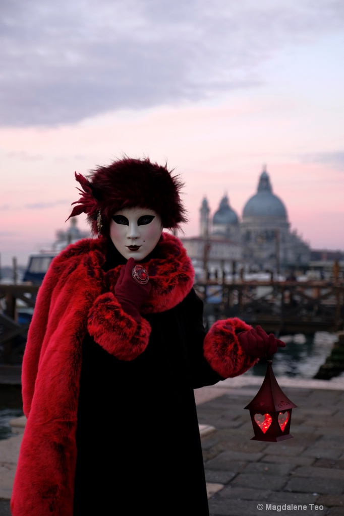 Venice Carnival: Color Series - Sunrise Red - ID: 15522404 © Magdalene Teo