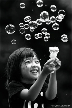 Happy Moment of the Little Girl