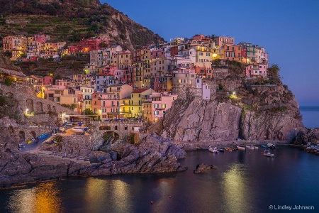 Manarola, Italy at Twilight