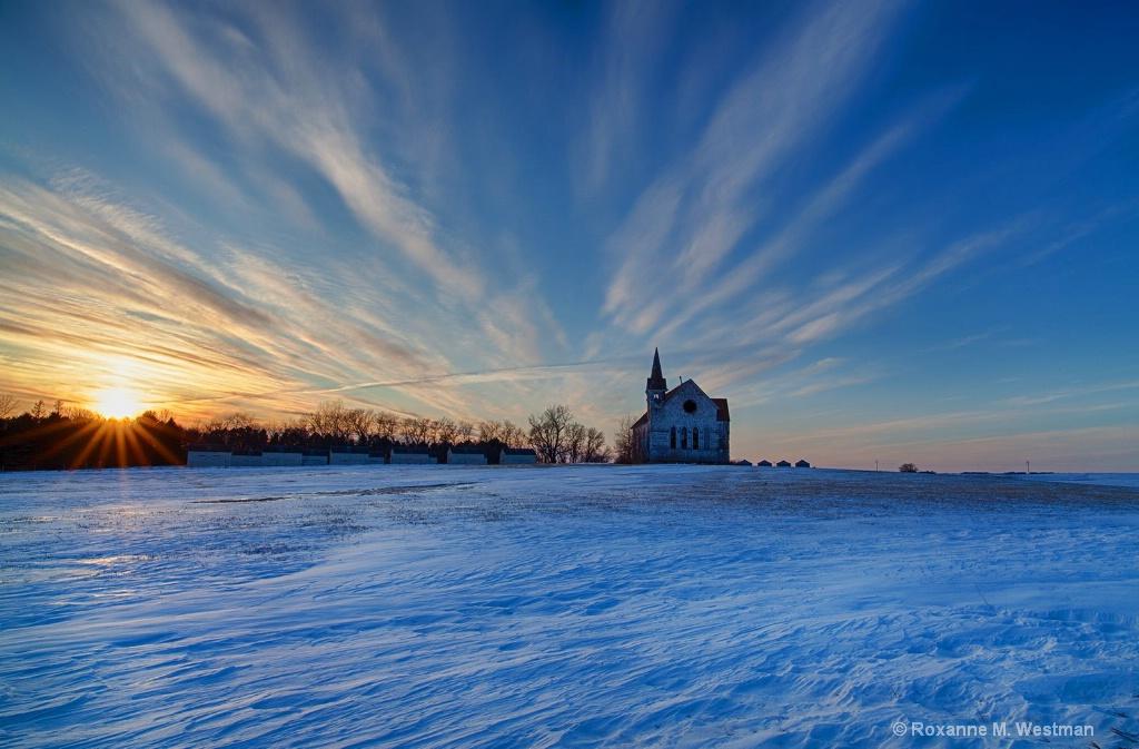 Old church on a hill - ID: 15543937 © Roxanne M. Westman