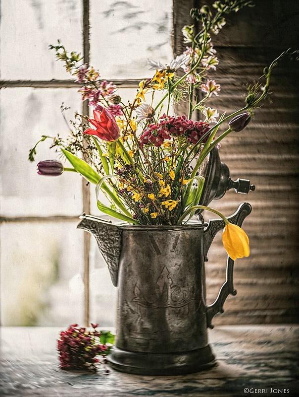 Spring Bouquet in Window Light
