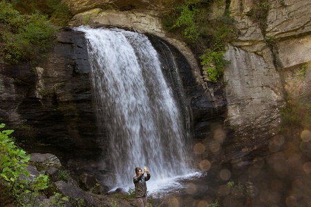 A Selfie at Looking Glass Falls