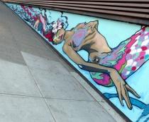 Angled wall art