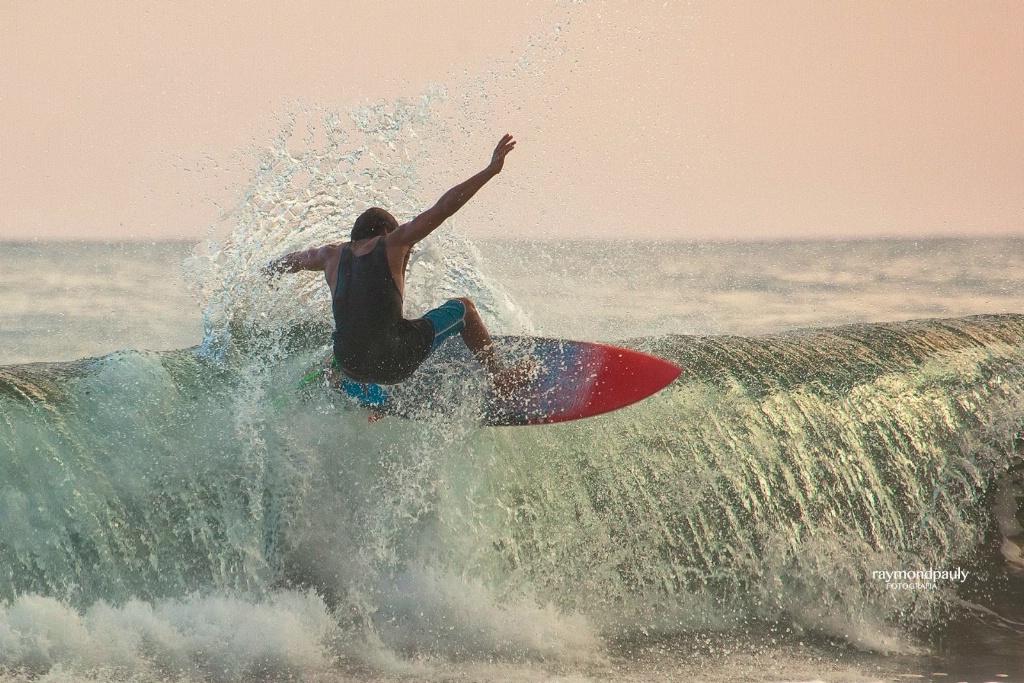 Surfing at Hermosa Beach