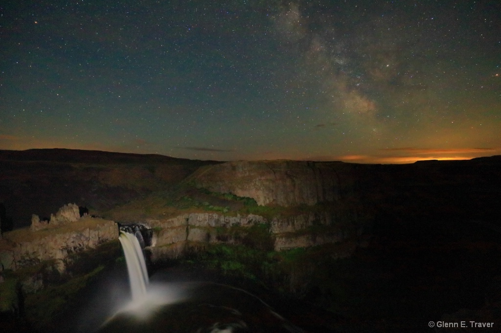 Milky Way at Palouse Falls