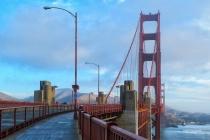 Walking Through Golden Gate Bridge
