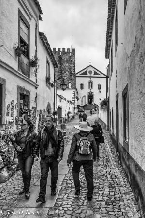 Tourist in Ovidos, Portugal