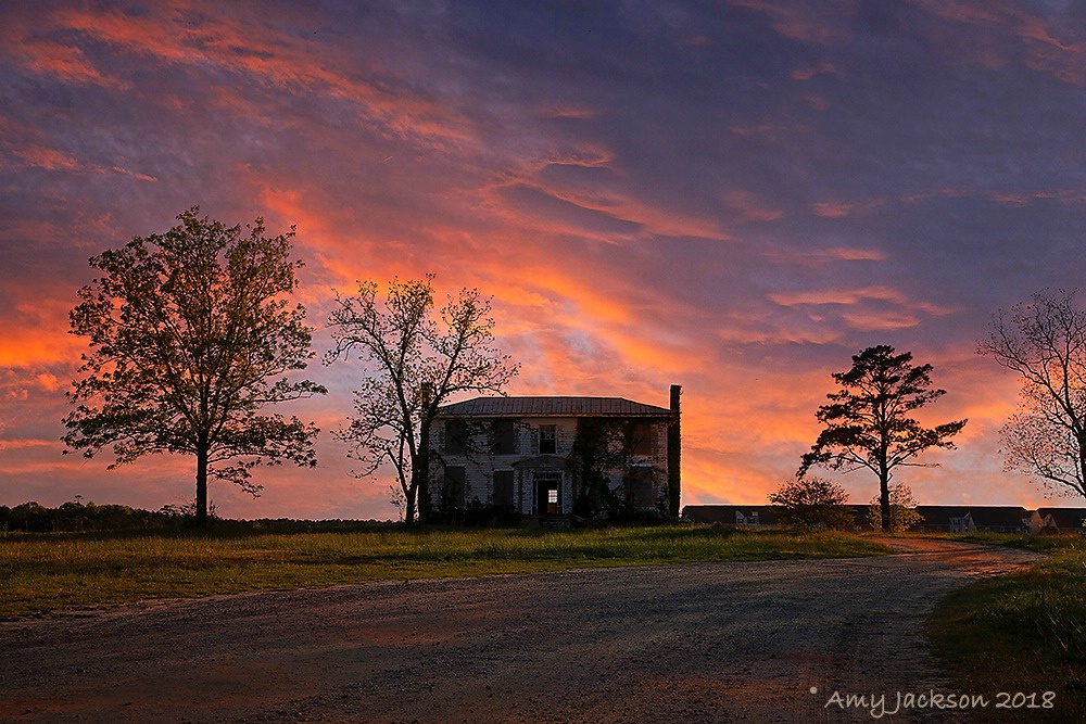 Old House at Sunset