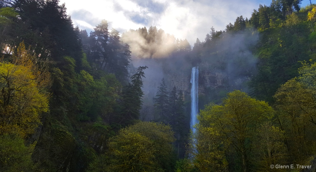 Multnomah Falls Morning Fog