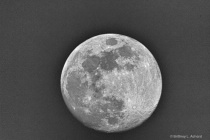 Not Quite Full Moon in HDR