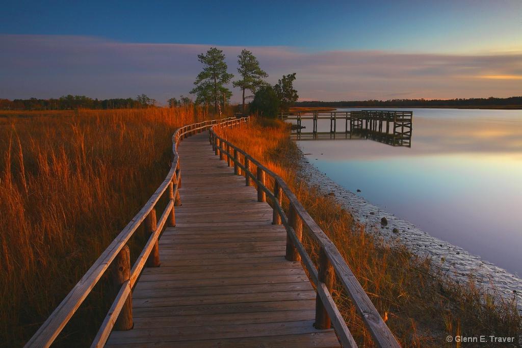 Fishing Pier and the Magic Light  Sundown