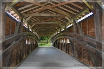 Inside Gilpin Falls Covered Bridge