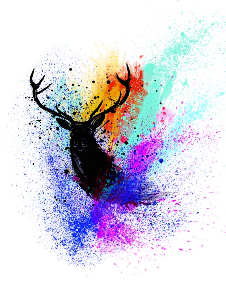 Artistic image of a stag