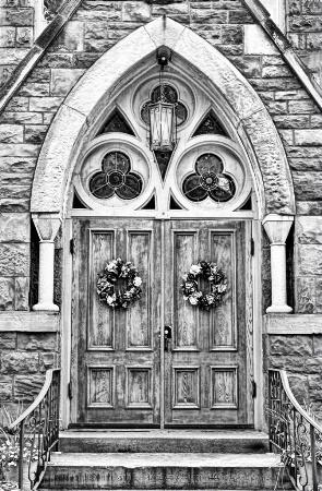 The Church Door - Black & White