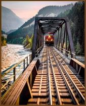 Train sunset-732 copy5