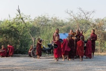 Daily morning life of monks.