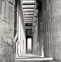 Inside the ancient greek temple.