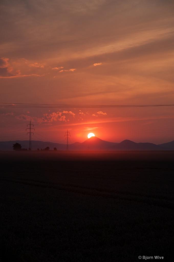 Sunset in Roudnice
