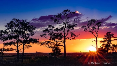 Sunset at Saxis, Va