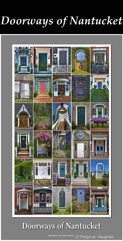 Fine Art Print - Doorways of Nantucket - ID: 15599545 © Timlyn w. Vaughan