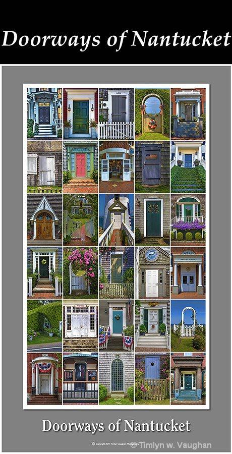 """Fine Art Print """"Doorways of Nantucket"""" - ID: 15600820 © Timlyn w. Vaughan"""