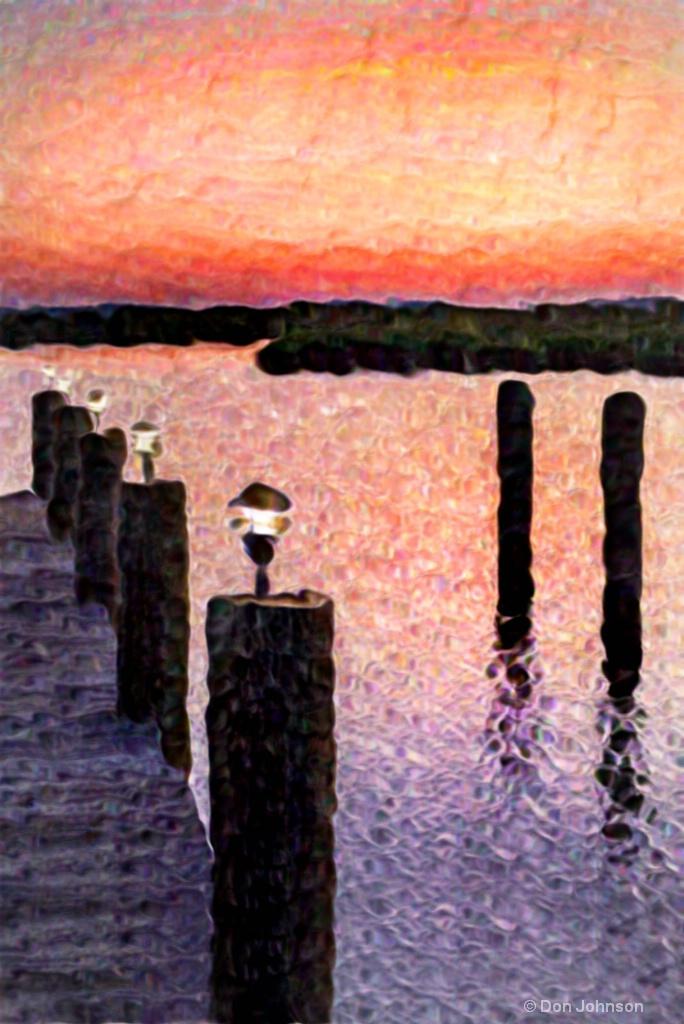 Artistic II Sunrise at the Pier 12-0 F LR 7-22-18  - ID: 15602297 © Don Johnson