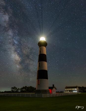 Bodie Island Light and Milky Way 3