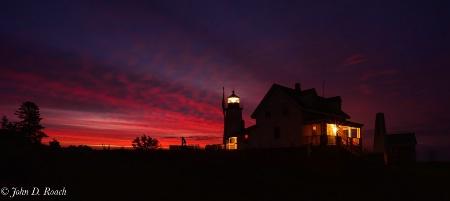 Pemiquid Lightouse at Sunrise