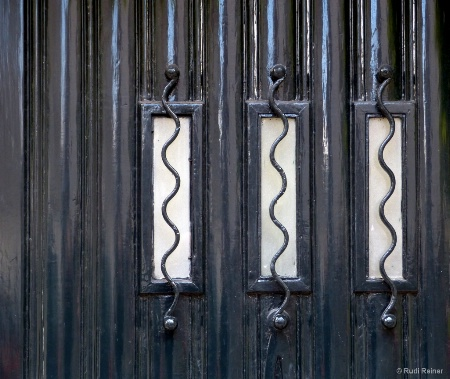 Door detail, somewhere in Amsterdam