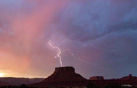 Lightning over Parriott Mesa