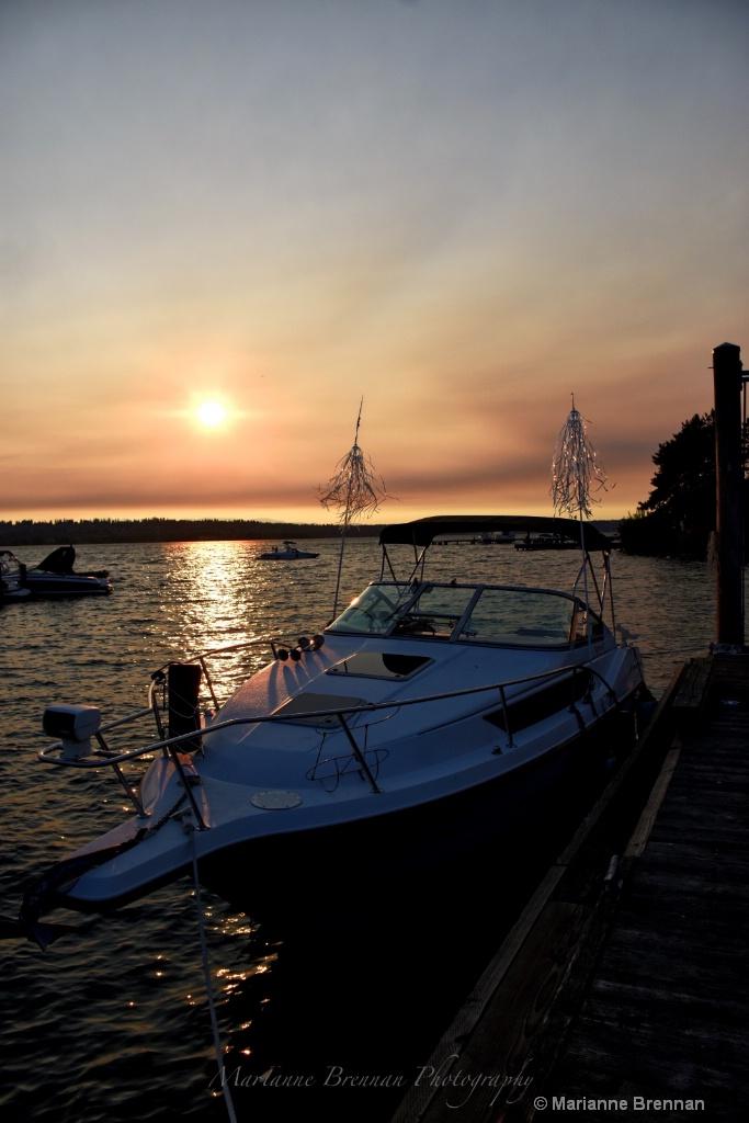 Boat & Smokey Sky