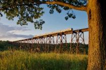 Train at the Moodna viaduct