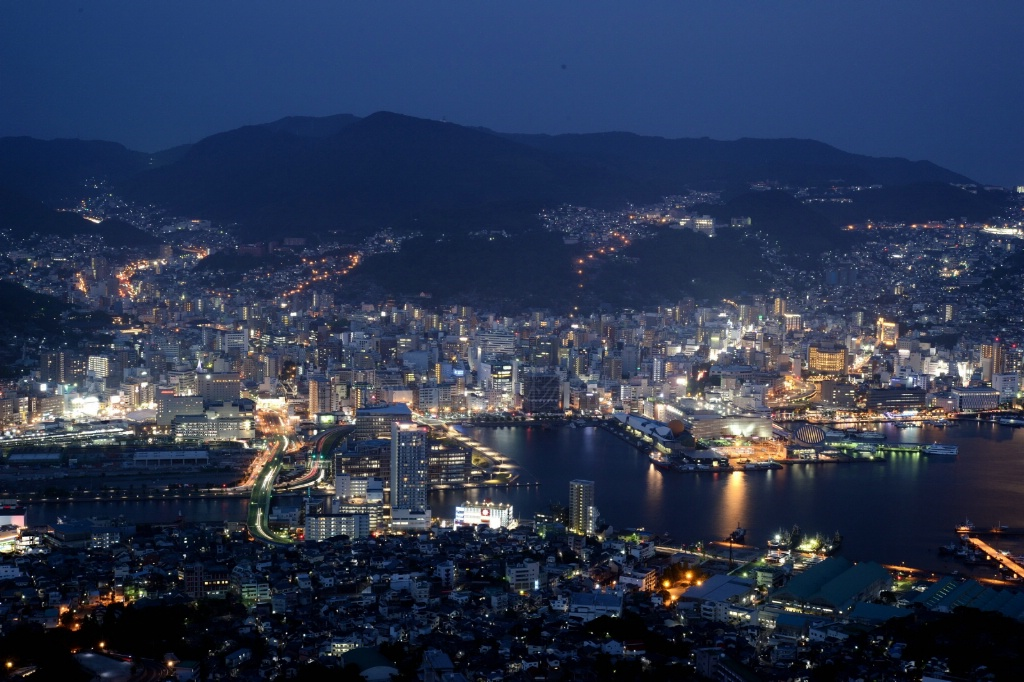 Dusk of #Nagasaki #Cityscape #Japan