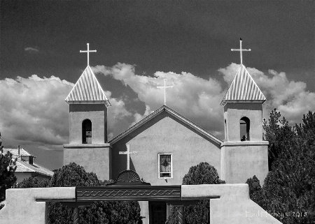 Churches on the high road to Taos