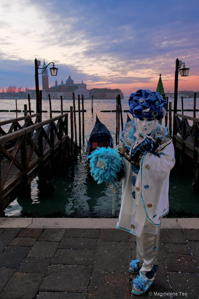 Venice Carnival: Portraits Series -  Sunrise  - ID: 15617173 © Magdalene Teo
