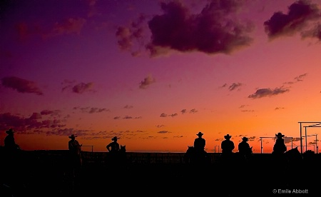 Cowboy Silhouettes at 06 ranch