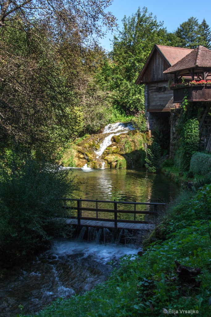 A mill on the waterfall