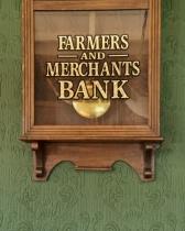 F&M Little Bank Clock Green Background