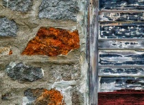 Stone, wood and paint