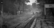 crossing the railway road