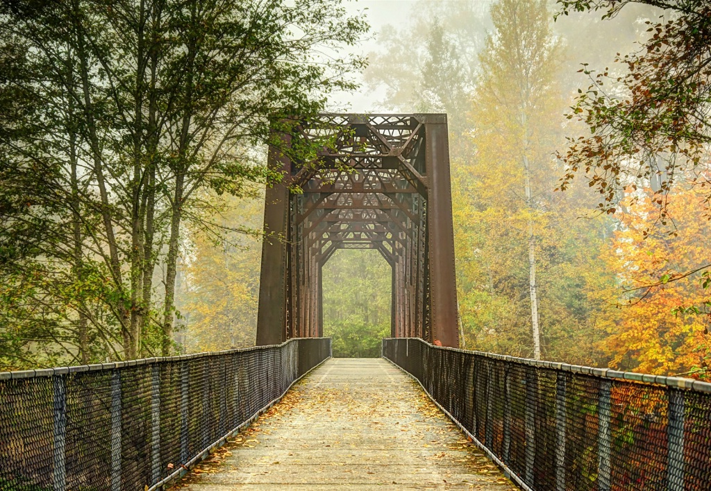 Autumn at Old Railroad Bridge